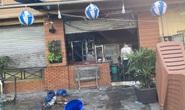 Công an phong tỏa hiện trường vụ nổ và cháy quán ăn ở quận 12
