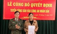 Vợ của đại úy công an hy sinh trong lúc đi cứu dân được tuyển dụng vào Công an nhân dân