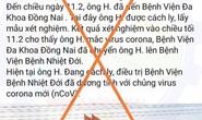 Công an truy tìm người tung tin sai sự thật Đồng Nai có ca nhiễm nCoV/Covid-19