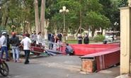 Sập cổng Bảo tàng tỉnh Đắk Lắk do... gió!