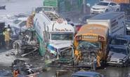Canada: 100 xe đụng dồn cục, 2 người chết, 90 người bị thương
