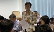 Bà Nguyễn Thị Quyết Tâm xúc động khi nói về việc buộc phải cưỡng chế