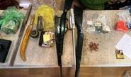 Đột kích tụ điểm đối tượng cộm cán ở Quảng Bình, phát hiện ma túy, súng và kiếm nhật