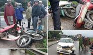 Tai nạn liên hoàn giữa ôtô và 2 xe máy, 3 người nhập viện cấp cứu