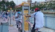 Cận cảnh sáng sớm ngày thứ 2 cách ly xã hội dọc kênh Nhiêu Lộc - Thị Nghè
