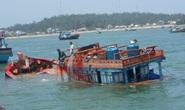 Kịp thời cứu 3 ngư dân bị chìm tàu trên biển Quảng Ngãi