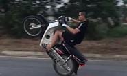 Khoe clip chiến tích bốc đầu xe máy, nam thanh niên bị xử phạt hơn 4 triệu đồng