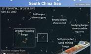 Ảnh vệ tinh: Tàu Trung Quốc nạo vét cát biển Đông với quy mô không tưởng