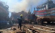 Đà Nẵng: Tàu cá bốc cháy giữa xưởng sửa chữa, thiệt hại gần 1 tỉ đồng