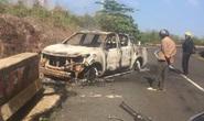 Xe bán tải của Bí thư xã và thi thể cháy rụi: Khó xác định danh tính nạn nhân