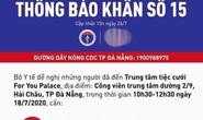 Bộ Y tế thông báo khẩn liên quan bệnh nhân Covid-19 ở Đà Nẵng
