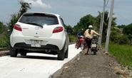 Đường nông thôn mới xe không thể tránh nhau