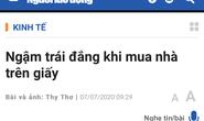 TP HCM: Đề nghị kiểm tra tình trạng lừa dối khách hàng mua nhà mà Báo Người Lao Động đã phản ánh