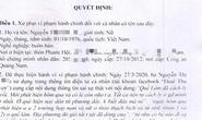 Lên Facebook bày bài thuốc phòng Covid-19, cô gái Quảng Nam bị phạt 5 triệu đồng