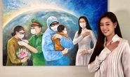Hoa hậu Khánh Vân đấu giá tranh ủng hộ quỹ phòng chống Covid-19