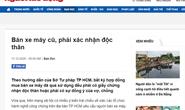 TP HCM xác minh nội dung bán xe máy cũ mà Báo Người Lao Động phản ánh