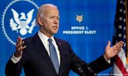 """Ông Joe Biden đề xuất """"kế hoạch giải cứu nước Mỹ"""" 1,9 ngàn tỉ USD"""