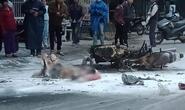 Xe máy va chạm rồi cháy dữ dội, người đàn ông ở Quảng Nam bỏng nặng