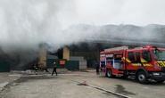 Cháy lớn tại kho ở cửa khẩu Bắc Phong Sinh