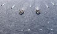 Hai nhóm tàu sân bay Mỹ vờn nhau trên biển Đông
