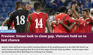 Truyền thông châu Á nhận định tuyển Việt Nam dưới cơ Oman