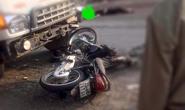 Xe máy tông nhau với xe tải, 2 nam thanh niên tử vong