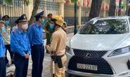 Tài xế Lexus có giấy ra vào trụ sở Bộ Công an đỗ sai quy định, thách thức công an