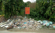 Đổ rác ngay dưới biển cấm