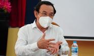 Bí thư Thành ủy TP HCM Nguyễn Văn Nên trao đổi với các chuyên gia dịch tễ về phòng chống Covid-19