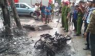 Hà Nội: Cháy cột điện, thiêu rụi xe máy