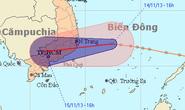 Sáng 15-11, áp thấp giật cấp 9 đổ bộ vào Nam Trung bộ-Nam bộ