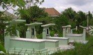 Xây mộ trong khu dân cư