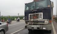 Dừng xe vi phạm, Trung uý CSGT bị tông trọng thương