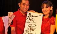Phi Nhung viết thư pháp tặng mẹ ngày 8-3