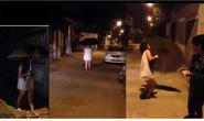 Xôn xao clip nữ sinh mộng du đi vô thức trong đêm