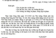 """Thực hư """"công văn""""cho học sinh nghỉ học cổ vũ U23 Việt Nam"""