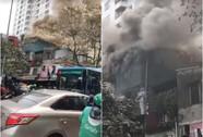 Hà Nội: Cháy lớn nhà 4 tầng kinh doanh đồ nhựa trên phố
