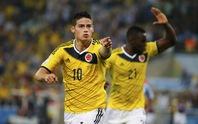 James Rodriguez lập cú đúp, Uruguay lên đường về nước