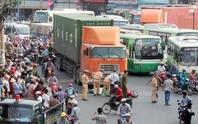 Một phụ nữ bị xe container cán chết