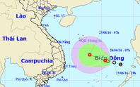 Áp thấp nhiệt đới mạnh xuất hiện trên Biển Đông
