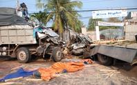 Xe tải tông trực diện, 2 tài xế chết tại chỗ