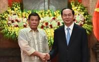 Chủ tịch nước Trần Đại Quang gửi thư cảm ơn Tổng thống Philippines