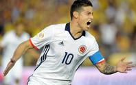 James Rodriguez đưa Colombia vào tứ kết sớm nhất