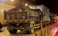 Tai nạn liên hoàn trong hầm vượt sông Sài Gòn, Audi dính chặt