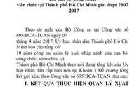 TP HCM báo cáo việc cán bộ đi nước ngoài