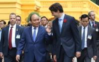 Cận cảnh lễ đón Thủ tướng Canada Justin Trudeau ở Phủ Chủ tịch