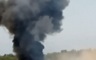 Máy bay Nga đâm xuống đất nổ tung, 2 người thiệt mạng