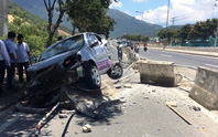 Xe ben tông ô tô tập lái, 2 người thoát chết nhờ túi khí