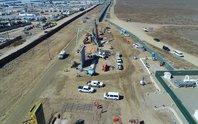 Lộ diện nguyên mẫu bức tường biên giới Mỹ - Mexico