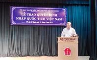 Việt kiều xin nhập quốc tịch Việt Nam